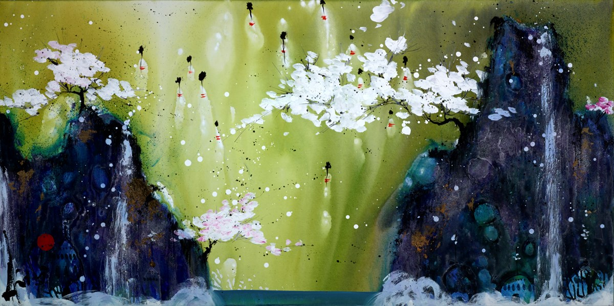 Storybook Heaven by danielle o'connor akiyama -  sized 60x30 inches. Available from Whitewall Galleries